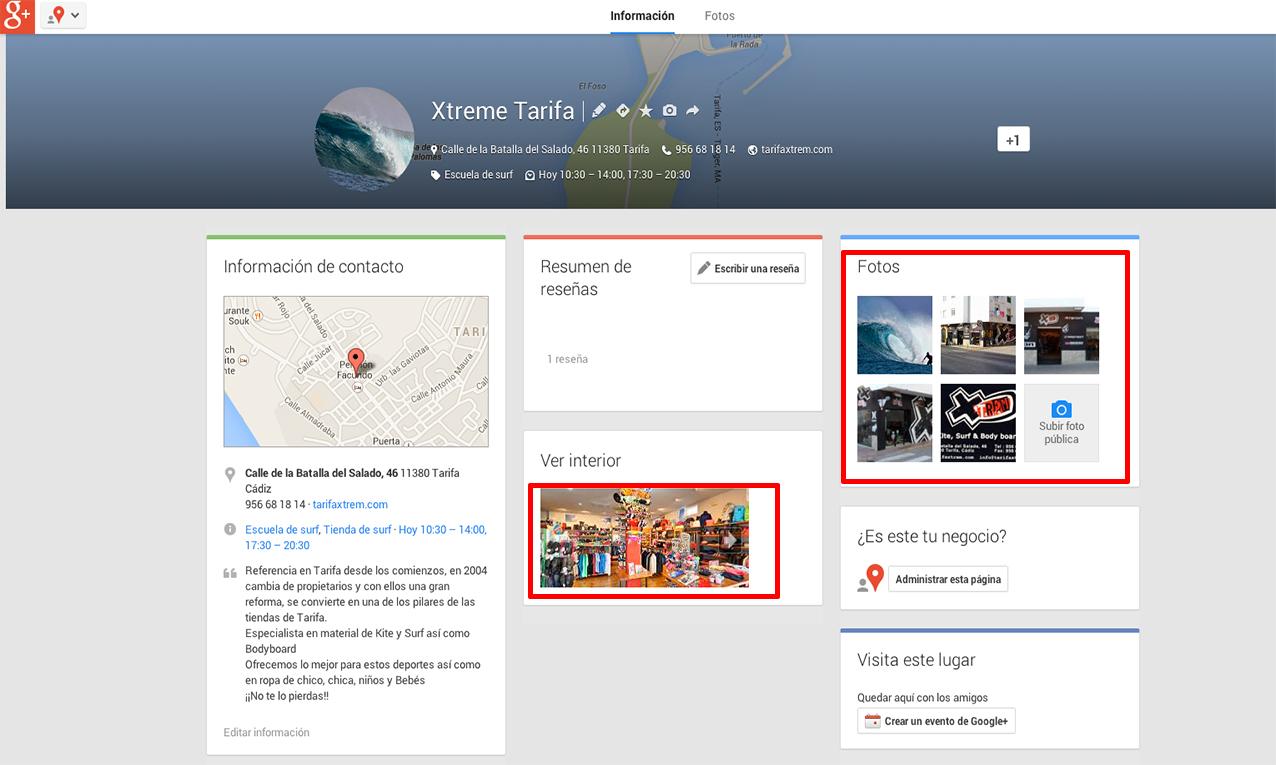 Google places-fotos de negocios